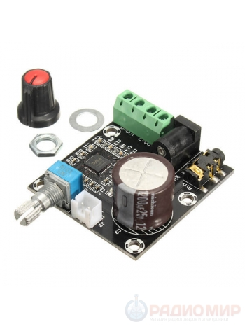 Усилитель 2*15Вт с регулятором громкости PAM8610