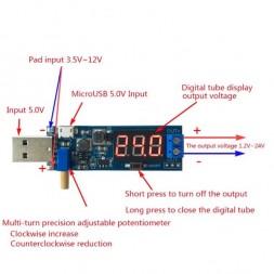 DC-DC USB 5В-->1.2-24В