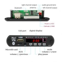 MP3/FM Bluetooth модуль 12В OT-SPM01