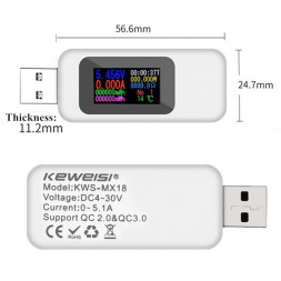 USB тестер Keweisi KWS-MX18
