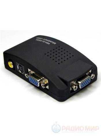 Переходник конвертер RCA-VGA (AV to VGA)