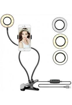 Лампа кольцевая на прищепке OG-SMH05