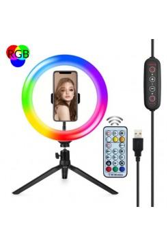 Кольцевая RGB лампа на триподе OG-SMH06