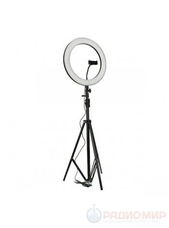Кольцевая светодиодная лампа со штативом Огонек OG-SMH03