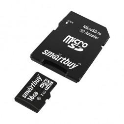 Карта памяти SD micro 16 Гб (+адаптер)