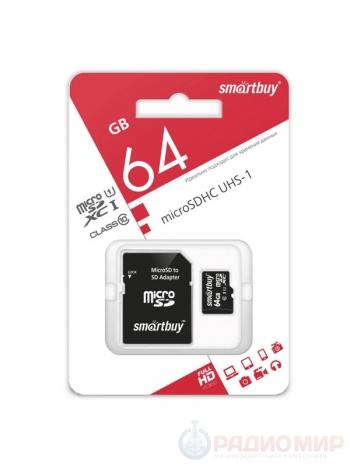 Карта памяти SD micro 64 Гб