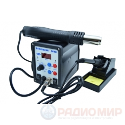 Паяльная станция (фен+паяльник) ПОМОЩНИК ПС-868D